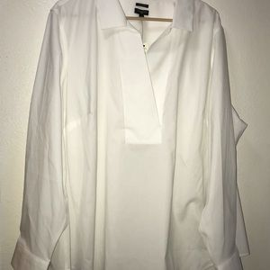 Talbots Collared Blouse Pull On 22W Button Sleeves
